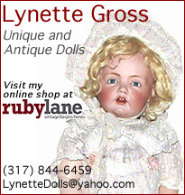 Unique, high quality, antique bisque and cloth dolls